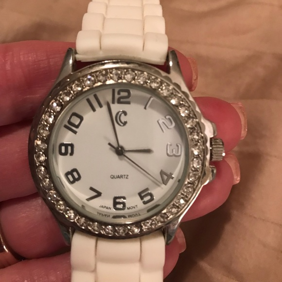Charming Charlie Accessories - Watch with white band. NWOT